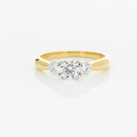 18ct Yellow & White Gold .50ct Diamond Elysian Ring - Walker & Hall