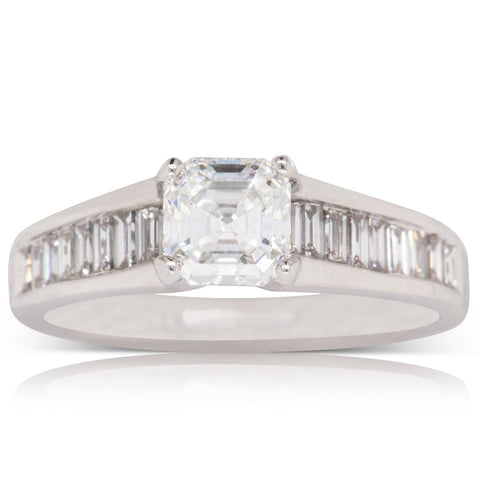18ct White Gold .95ct Diamond Ring - Walker & Hall
