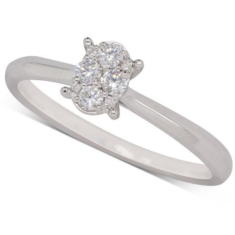 9ct White Gold .25ct Diamond Ring - Walker & Hall
