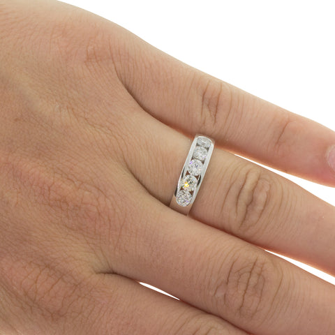 18ct White Gold 1.09ct Diamond Loire Ring - Walker & Hall
