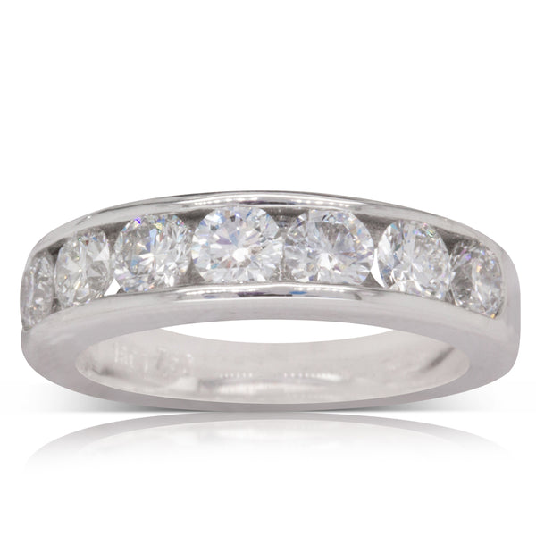 18ct White Gold 1.18ct Diamond Eternity Ring - Walker & Hall