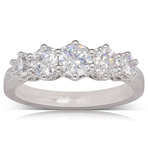 18ct White Gold 1.21ct Diamond Monarch Ring - Walker & Hall