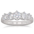 18ct White Gold 1.18ct Diamond Monarch Ring - Walker & Hall