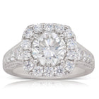 18ct White Gold 2.03ct Diamond Halo Ring - Walker & Hall