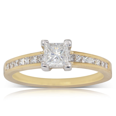18ct Yellow Gold .55ct Diamond Riviera Ring - Walker & Hall