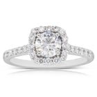 18ct White Gold .65ct Diamond Manhattan Ring - Walker & Hall