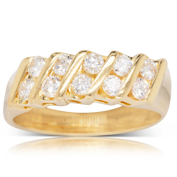 Deja Vu 18ct Yellow Gold .60ct Diamond Dress Ring - Walker & Hall
