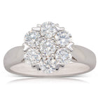 18ct White Gold 1.35ct Diamond Lotus Ring - Walker & Hall