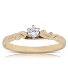 Deja Vu 9ct Yellow Gold .11ct Diamond Solitaire Ring - Walker & Hall