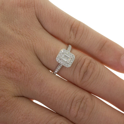 18ct White Gold .50ct Diamond Aria Ring - Walker & Hall