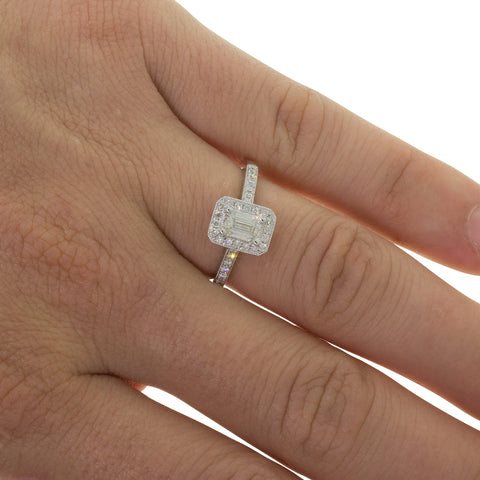 18ct White Gold .52ct Diamond Aria Ring - Walker & Hall