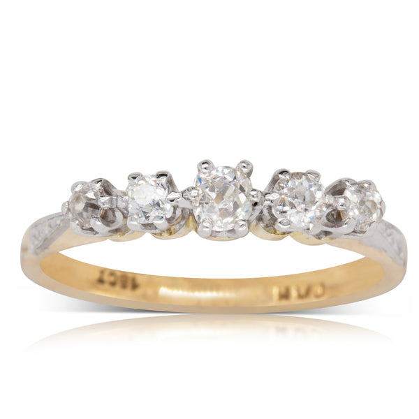 Deja Vu 18ct Yellow & White Gold .69ct Diamond Ring - Walker & Hall