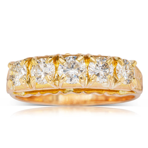 Deja Vu 18ct Yellow Gold 1.00ct Diamond Ring - Walker & Hall