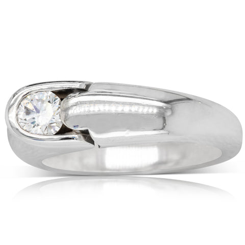 Deja Vu Platinum .40ct Diamond Solitaire Ring - Walker & Hall