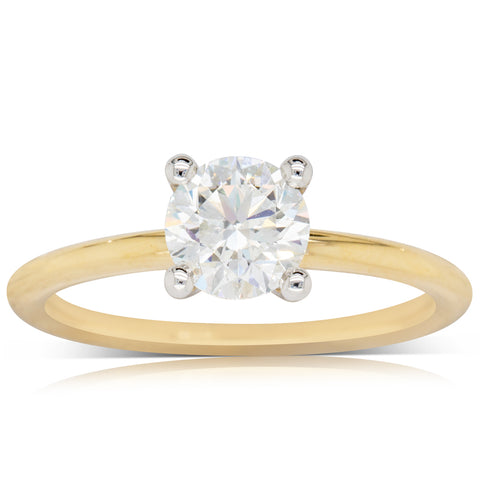 18ct Yellow Gold 1.00ct Diamond Melba Ring - Walker & Hall