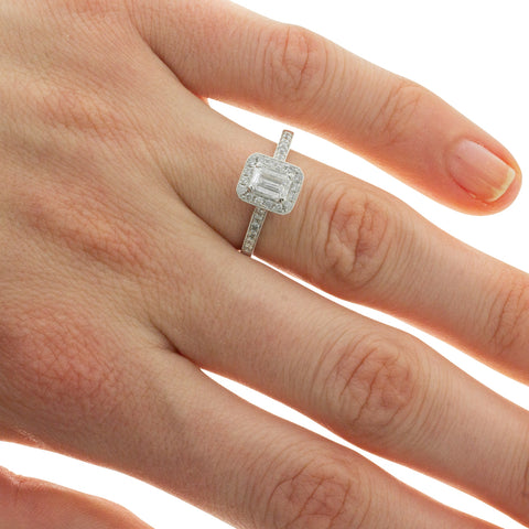 18ct White Gold .41ct Diamond Aria Ring - Walker & Hall