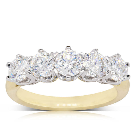18ct Yellow Gold 1.64ct Diamond Monarch Ring - Walker & Hall