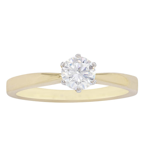 18ct Yellow Gold .50ct Diamond Nova Ring - Walker & Hall