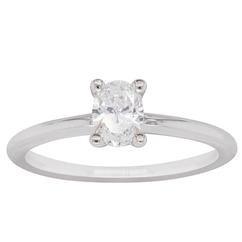 18ct White Gold .50ct Diamond Melba Ring - Walker & Hall