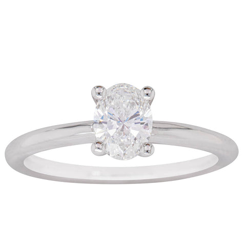 18ct White Gold .70ct Diamond Melba Ring - Walker & Hall