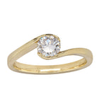 18ct Yellow Gold .59ct Diamond Embrace Ring - Walker & Hall