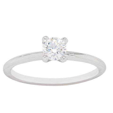 18ct White Gold .40ct Diamond Melba Ring - Walker & Hall