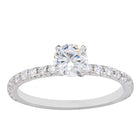 18ct White Gold .59ct Diamond Comet Ring - Walker & Hall