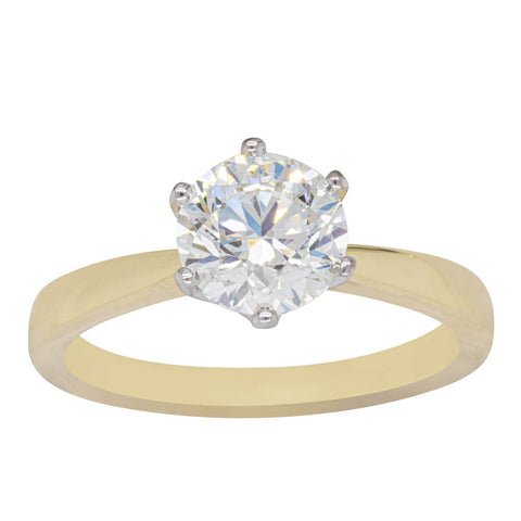 18ct Yellow Gold 1.50ct Diamond Nova Ring - Walker & Hall