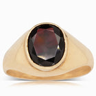 9ct Yellow Gold Garnet Ring - Plus Size - Walker & Hall