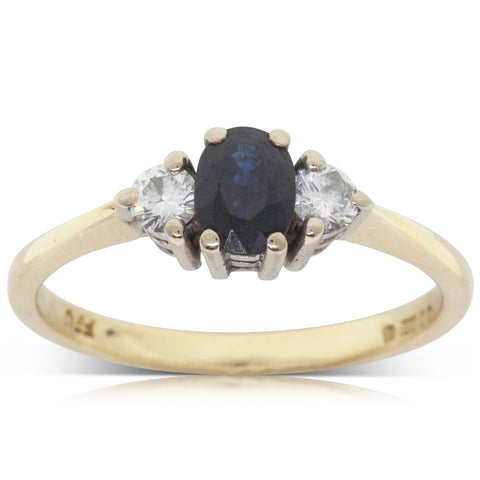 Deja Vu 18ct Yellow Gold .45ct Sapphire & Diamond Ring - Walker & Hall