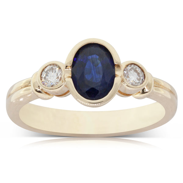 8c2b75b3c Deja Vu 9ct Yellow Gold 1.00ct Sapphire & Diamond Ring – Walker & Hall