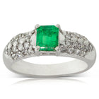 Deja Vu Platinum .60ct Emerald & Diamond Ring - Walker & Hall