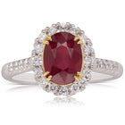 18ct White & Yellow Gold 2.54ct Ruby & Diamond Ring - Walker & Hall