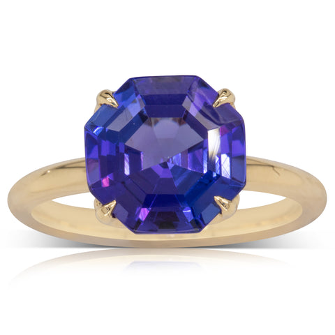 18ct Yellow Gold Tanzanite Octavia Ring
