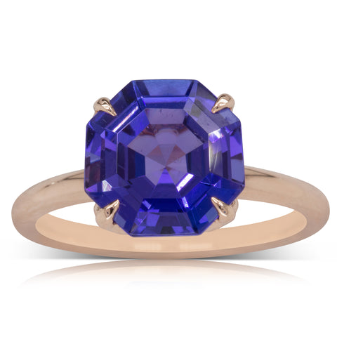 18ct Rose Gold Tanzanite Octavia Ring