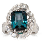 Deja Vu Platinum 4.00ct Tourmaline & Diamond Ring - Walker & Hall