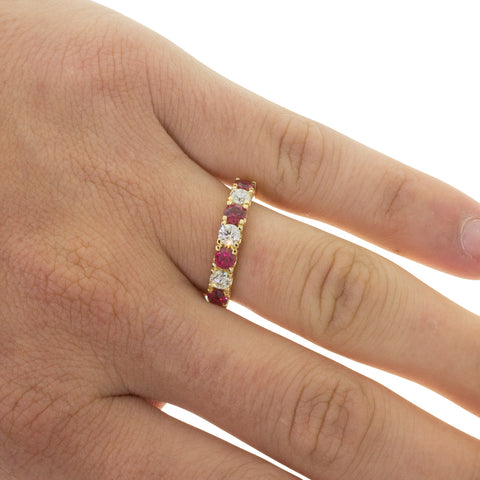 18ct Yellow Gold .91ct Ruby & Diamond Rialto Ring - Walker & Hall