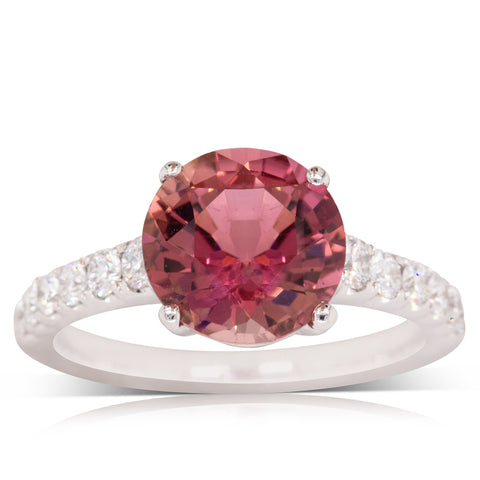 18ct White Gold 2.88ct Tourmaline & Diamond Ring - Walker & Hall