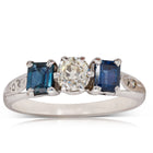 Deja Vu 18ct White Gold .60ct Sapphire & Diamond Ring - Walker & Hall