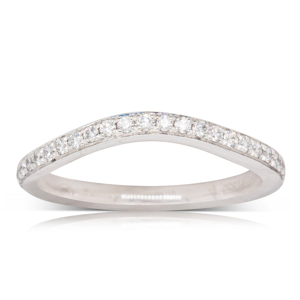 Platinum .16ct Diamond Shaped Band - Walker & Hall