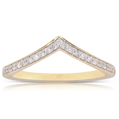 9ct Yellow Gold 21 Diamond Ring - Plus Size - Walker & Hall