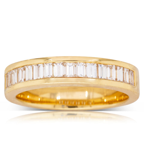18ct Yellow Gold .80ct Diamond Eternity Ring - Walker & Hall