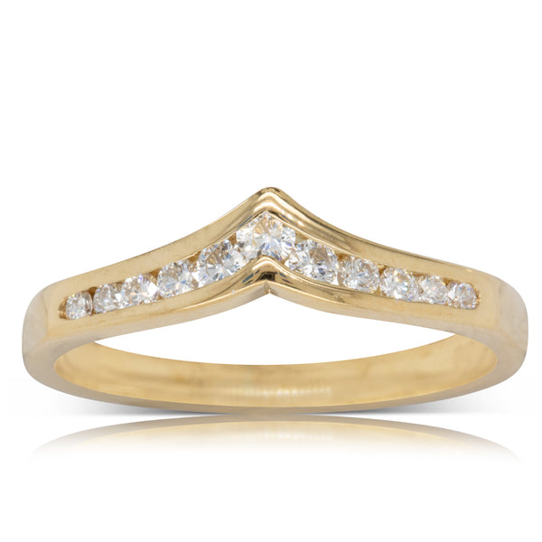 Deja Vu 18ct Yellow Gold .33ct Diamond Eternity Ring - Walker & Hall