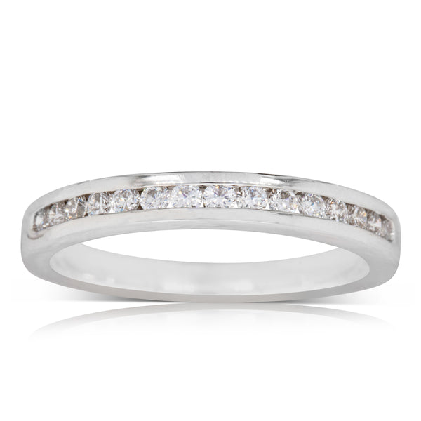 Deja Vu 18ct White Gold .25ct Diamond Eternity Ring - Walker & Hall
