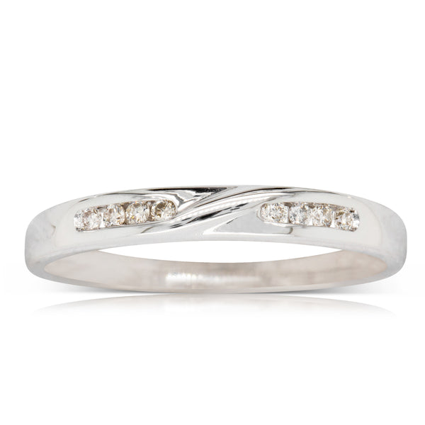 Deja Vu 9ct White Gold .12ct Diamond Band - Walker & Hall