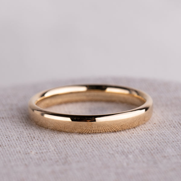 9ct Yellow Gold 3mm Band - Walker & Hall
