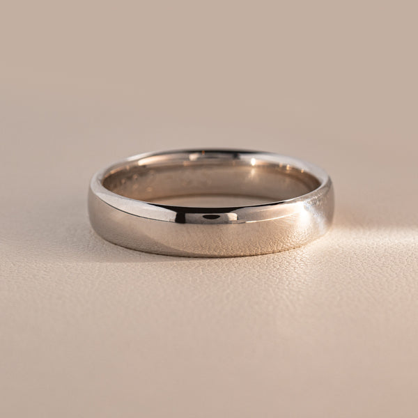 9ct White Gold 5mm Band - Walker & Hall