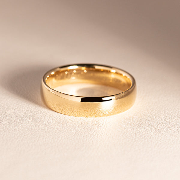 9ct Yellow Gold 5mm Band - Walker & Hall