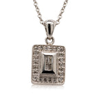 9ct White Gold .17ct Diamond Necklace - Walker & Hall