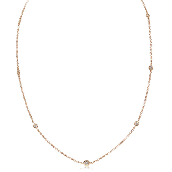 18ct Rose Gold .28ct Diamond Chain - Walker & Hall